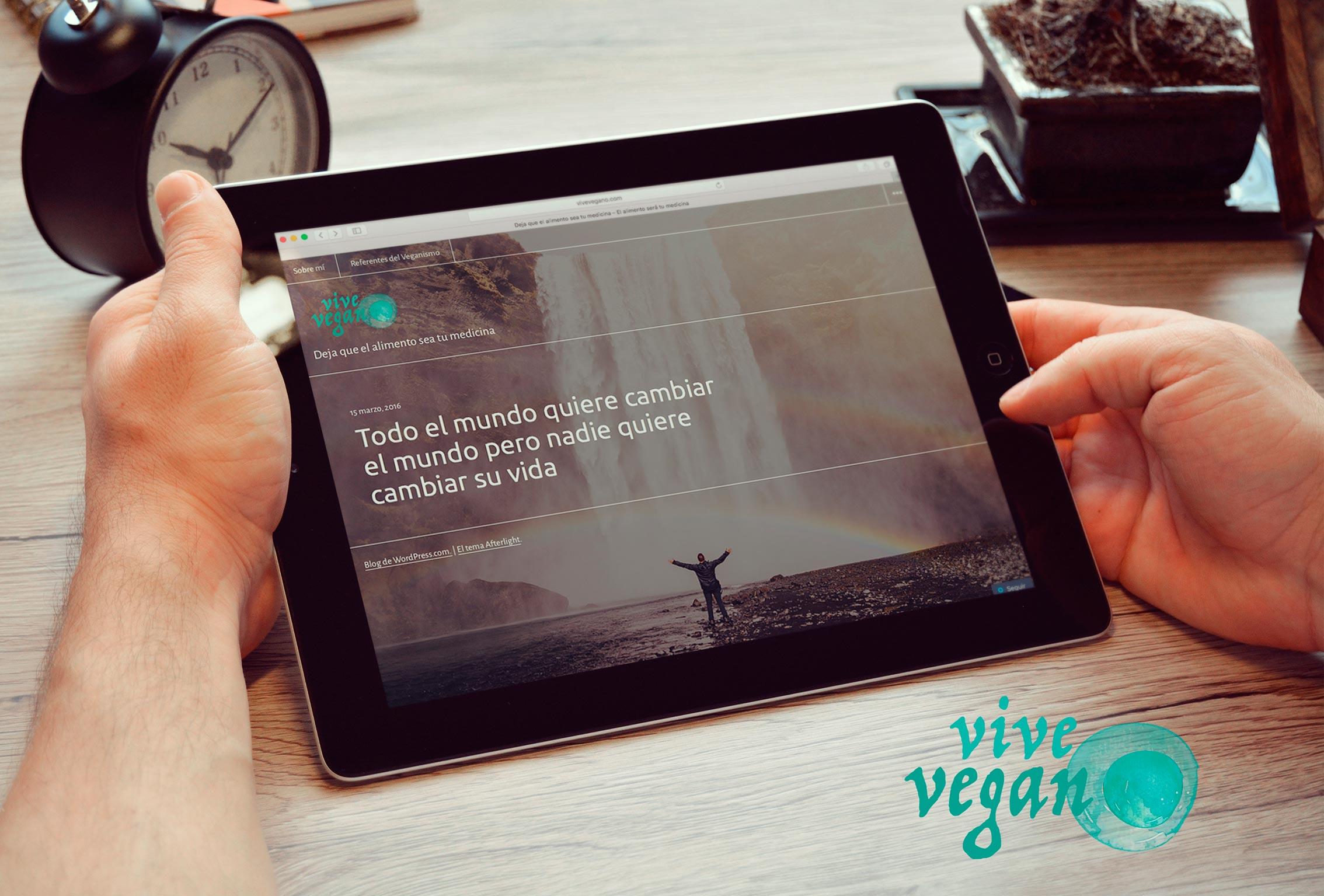 VIVE VEGANO > Diseño del blog e imagen corporativa